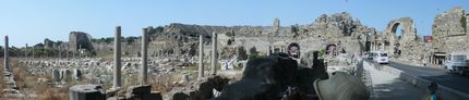 Сиде - Агората и античният театър