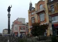 Западната част на площад Джумаята и улица Васил Коларов (Княз Александър І) 25.X.2009г.