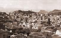 Поглед от Небет тепе към Капана, Джумая джамия, Сахат тепе, Бунарджика и Джендем тепе 1930-1940г.