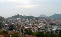 Поглед от Небет тепе към Капана, Джумая джамия, Сахат тепе, Бунарджика и Джендем тепе 24.X.2009г.