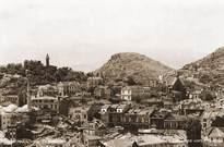 поглед от Таксим тепе към Дмумаята и североизточните склонове на Сахат тепе 1940-1950г.