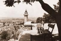 Поглед от върха на Сахат тепе към часовниковата кула 1940-1950г.